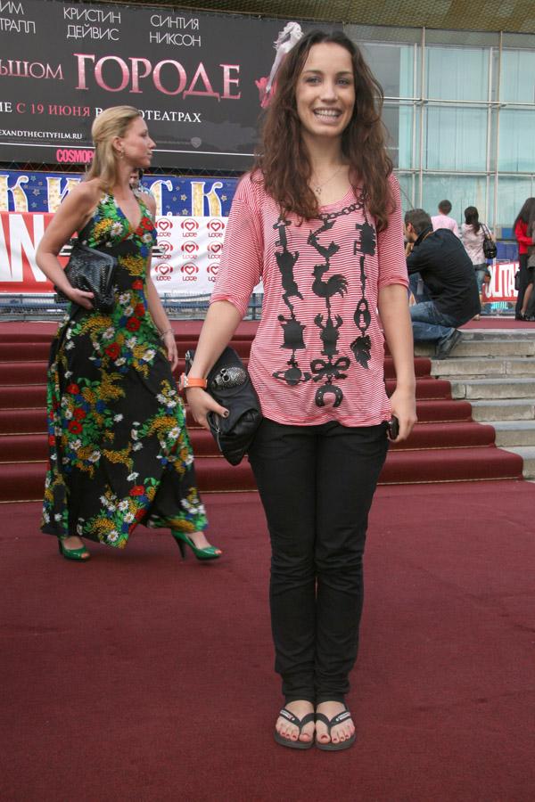 Виктория Дайнеко на премьере полнометражного фильма Секс в большом